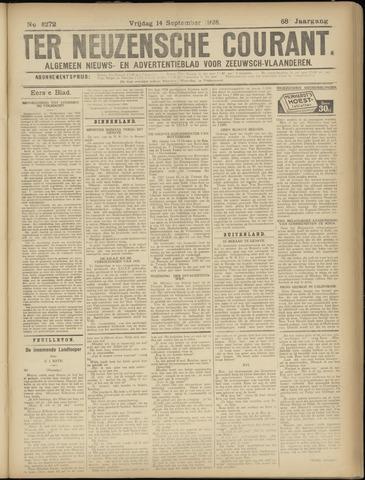 Ter Neuzensche Courant. Algemeen Nieuws- en Advertentieblad voor Zeeuwsch-Vlaanderen / Neuzensche Courant ... (idem) / (Algemeen) nieuws en advertentieblad voor Zeeuwsch-Vlaanderen 1928-09-14