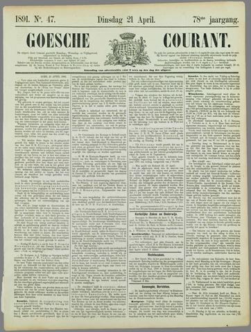 Goessche Courant 1891-04-21