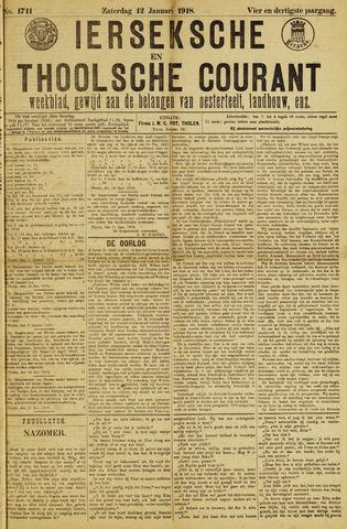 Ierseksche en Thoolsche Courant 1918-01-12