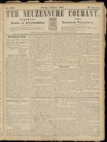 Ter Neuzensche Courant. Algemeen Nieuws- en Advertentieblad voor Zeeuwsch-Vlaanderen / Neuzensche Courant ... (idem) / (Algemeen) nieuws en advertentieblad voor Zeeuwsch-Vlaanderen 1899-10-03