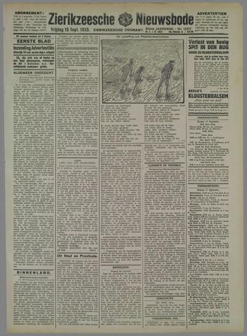 Zierikzeesche Nieuwsbode 1933-09-15