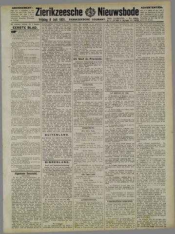 Zierikzeesche Nieuwsbode 1921-07-08