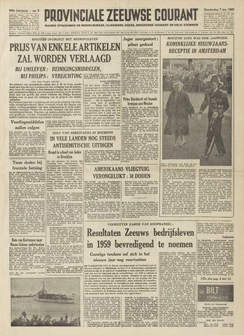 Provinciale Zeeuwse Courant 1960-01-07
