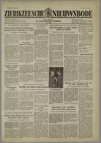 Zierikzeesche Nieuwsbode 1954-07-01