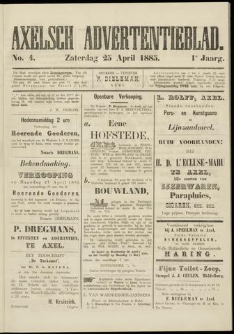 Axelsche Courant 1885-04-25
