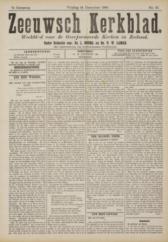 Zeeuwsche kerkbode, weekblad gewijd aan de belangen der gereformeerde kerken/ Zeeuwsch kerkblad 1909-12-24