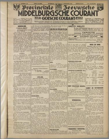 Middelburgsche Courant 1933-08-09