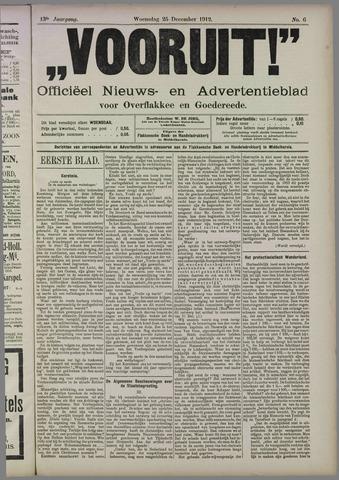 """""""Vooruit!""""Officieel Nieuws- en Advertentieblad voor Overflakkee en Goedereede 1912-12-25"""