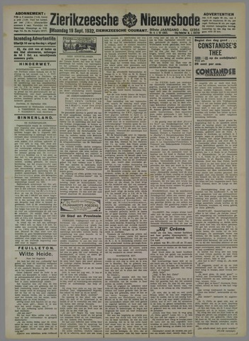 Zierikzeesche Nieuwsbode 1932-09-19