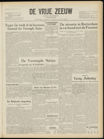 de Vrije Zeeuw 1952-11-11