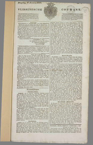 Vlissingse Courant 1837
