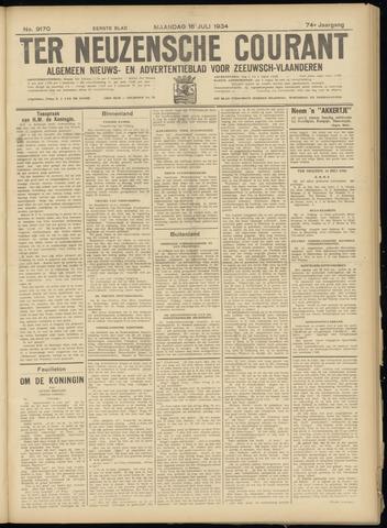 Ter Neuzensche Courant. Algemeen Nieuws- en Advertentieblad voor Zeeuwsch-Vlaanderen / Neuzensche Courant ... (idem) / (Algemeen) nieuws en advertentieblad voor Zeeuwsch-Vlaanderen 1934-07-16