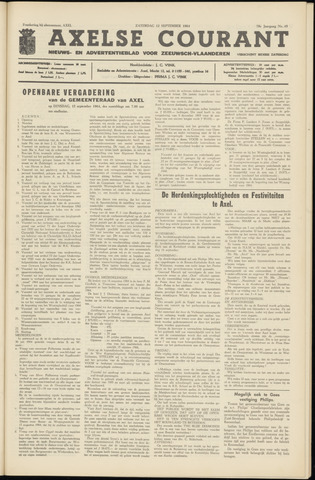 Axelsche Courant 1964-09-12