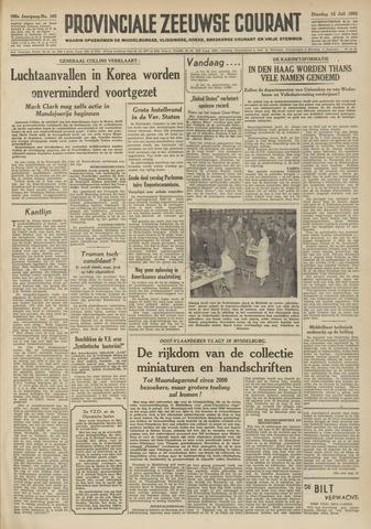 Provinciale Zeeuwse Courant 1952-07-15