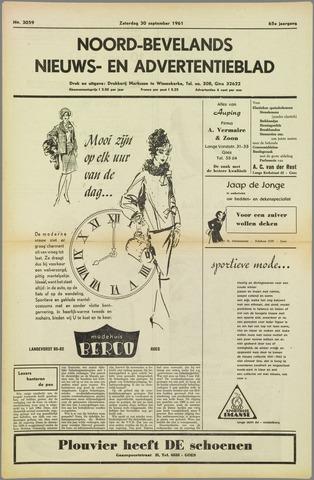 Noord-Bevelands Nieuws- en advertentieblad 1961-09-30