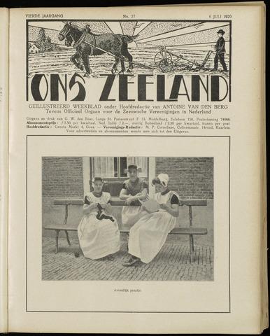 Ons Zeeland / Zeeuwsche editie 1929-07-06