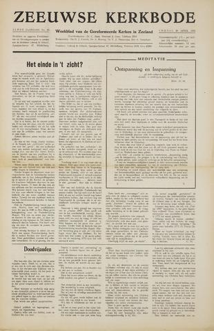 Zeeuwsche kerkbode, weekblad gewijd aan de belangen der gereformeerde kerken/ Zeeuwsch kerkblad 1956-04-20