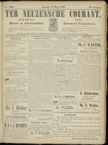 Ter Neuzensche Courant. Algemeen Nieuws- en Advertentieblad voor Zeeuwsch-Vlaanderen / Neuzensche Courant ... (idem) / (Algemeen) nieuws en advertentieblad voor Zeeuwsch-Vlaanderen 1888-03-17