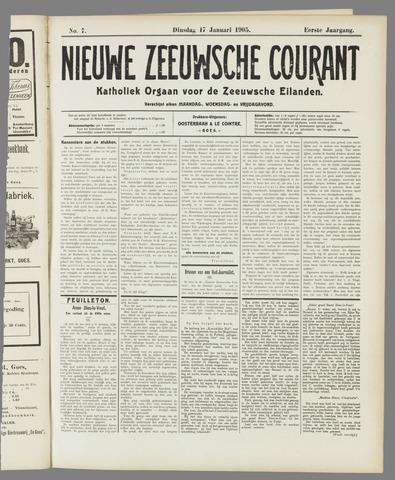 Nieuwe Zeeuwsche Courant 1905-01-17