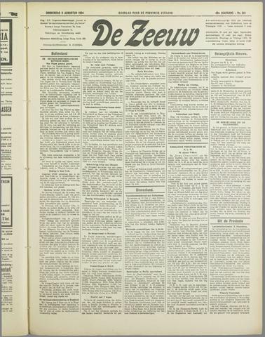 De Zeeuw. Christelijk-historisch nieuwsblad voor Zeeland 1934-08-09