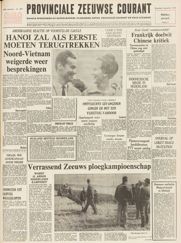 Provinciale Zeeuwse Courant 1966-09-05