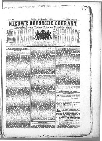 Nieuwe Goessche Courant 1877-11-30