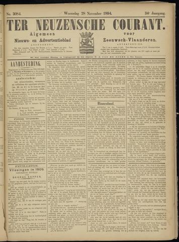 Ter Neuzensche Courant. Algemeen Nieuws- en Advertentieblad voor Zeeuwsch-Vlaanderen / Neuzensche Courant ... (idem) / (Algemeen) nieuws en advertentieblad voor Zeeuwsch-Vlaanderen 1894-11-28