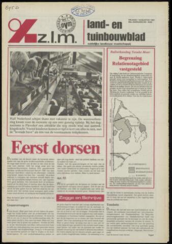 Zeeuwsch landbouwblad ... ZLM land- en tuinbouwblad 1981-08-07