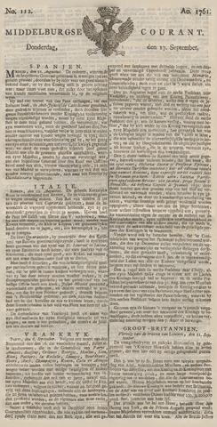 Middelburgsche Courant 1761-09-17