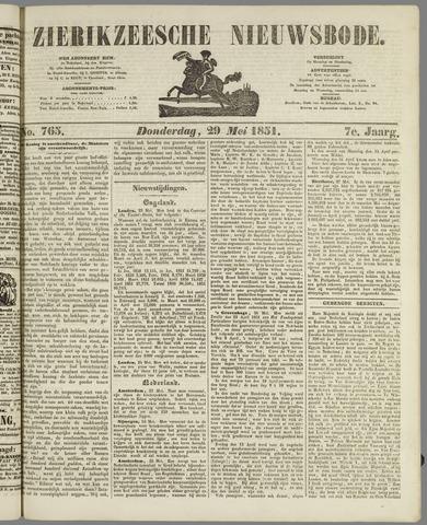 Zierikzeesche Nieuwsbode 1851-05-29