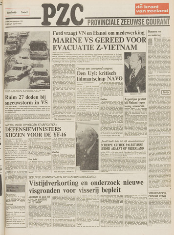 Provinciale Zeeuwse Courant 1975-04-04