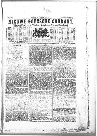 Nieuwe Goessche Courant 1877-10-09