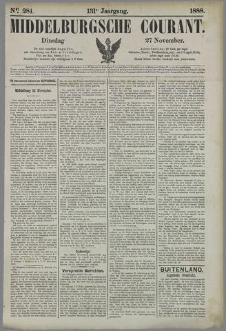 Middelburgsche Courant 1888-11-27