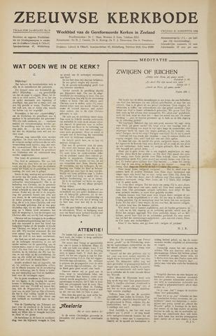 Zeeuwsche kerkbode, weekblad gewijd aan de belangen der gereformeerde kerken/ Zeeuwsch kerkblad 1956-08-31