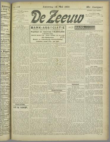 De Zeeuw. Christelijk-historisch nieuwsblad voor Zeeland 1921-05-14