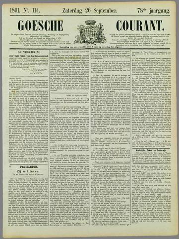 Goessche Courant 1891-09-26