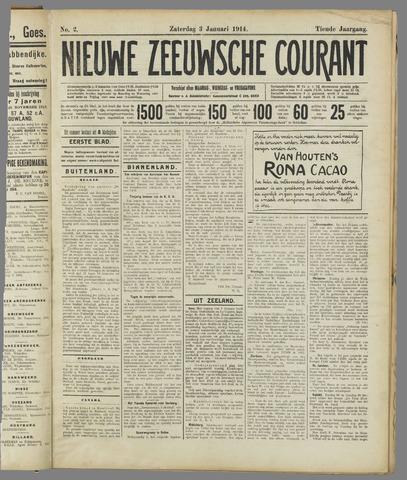 Nieuwe Zeeuwsche Courant 1914-01-03