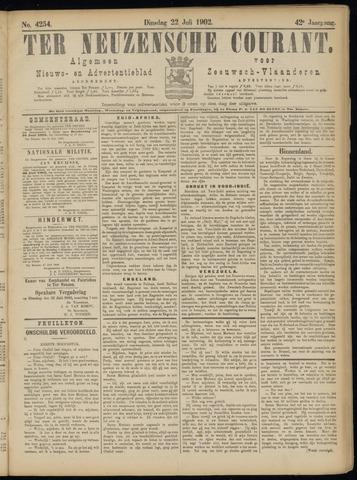 Ter Neuzensche Courant. Algemeen Nieuws- en Advertentieblad voor Zeeuwsch-Vlaanderen / Neuzensche Courant ... (idem) / (Algemeen) nieuws en advertentieblad voor Zeeuwsch-Vlaanderen 1902-07-22