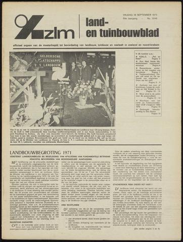 Zeeuwsch landbouwblad ... ZLM land- en tuinbouwblad 1970-09-16