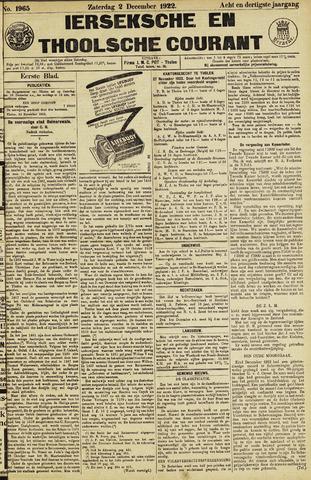 Ierseksche en Thoolsche Courant 1922-12-02