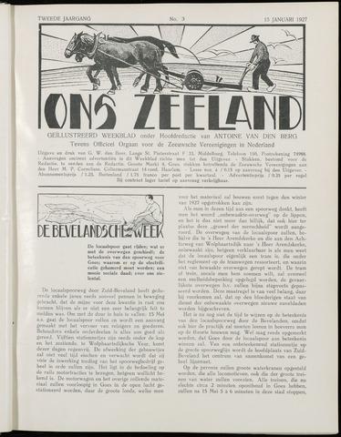Ons Zeeland / Zeeuwsche editie 1927-01-15