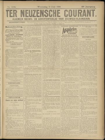 Ter Neuzensche Courant. Algemeen Nieuws- en Advertentieblad voor Zeeuwsch-Vlaanderen / Neuzensche Courant ... (idem) / (Algemeen) nieuws en advertentieblad voor Zeeuwsch-Vlaanderen 1928-06-13