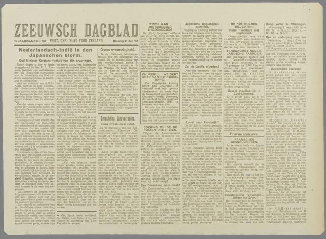 Zeeuwsch Dagblad 1945-07-31