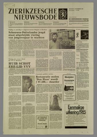 Zierikzeesche Nieuwsbode 1985-11-05