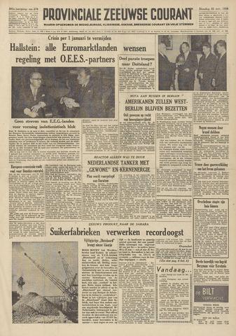 Provinciale Zeeuwse Courant 1958-11-25