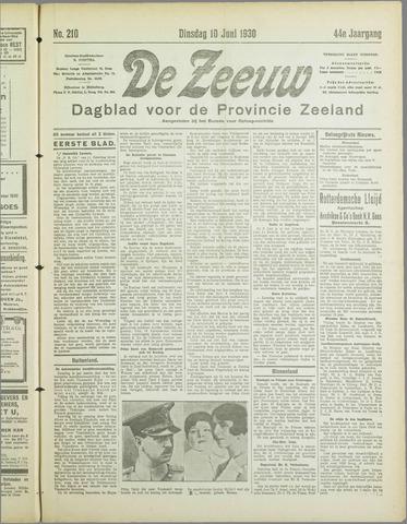 De Zeeuw. Christelijk-historisch nieuwsblad voor Zeeland 1930-06-10