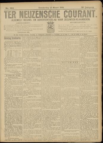 Ter Neuzensche Courant. Algemeen Nieuws- en Advertentieblad voor Zeeuwsch-Vlaanderen / Neuzensche Courant ... (idem) / (Algemeen) nieuws en advertentieblad voor Zeeuwsch-Vlaanderen 1919-03-13