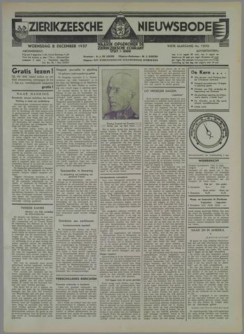 Zierikzeesche Nieuwsbode 1937-12-08