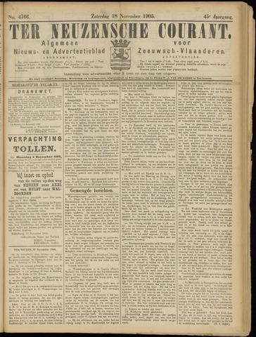Ter Neuzensche Courant. Algemeen Nieuws- en Advertentieblad voor Zeeuwsch-Vlaanderen / Neuzensche Courant ... (idem) / (Algemeen) nieuws en advertentieblad voor Zeeuwsch-Vlaanderen 1905-11-18