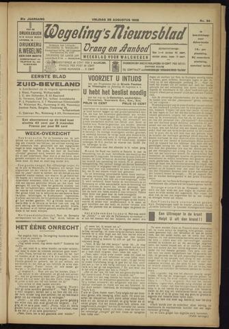 Zeeuwsch Nieuwsblad/Wegeling's Nieuwsblad 1925-08-28